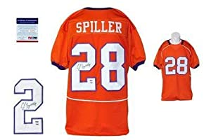 CJ Spiller SIGNED Orange Jersey - - Clemson Tigers Autograph - BILLS - PSA DNA... by Sports+Memorabilia