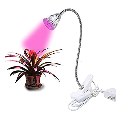 HuaYang 5W LED Hydroponic Plant Grow Light Clip Desk Flexible Lamp for Indoor Garden