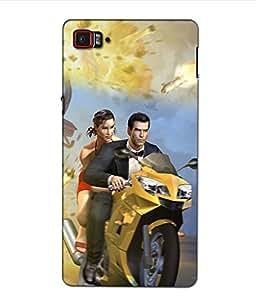 Crazymonk Premium Digital Printed 3D Back Cover For Lenovo Vibe Z2 Pro K920