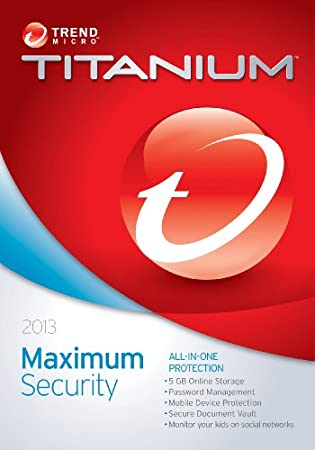 Trend Micro Titanium Maximum Security 2013 (5-Users)