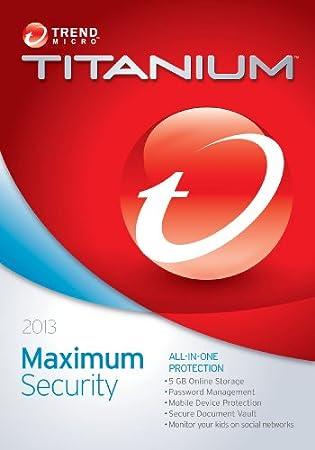 Trend Micro Titanium Maximum Security 2013 (5-Users)
