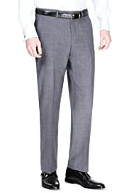 Luxury Pure Wool Flat Front Trousers [T18-9038C-S]