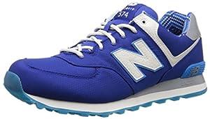 New Balance Men's ML574 Street Beat Pack Running Shoe, Blue/White, 11 D US