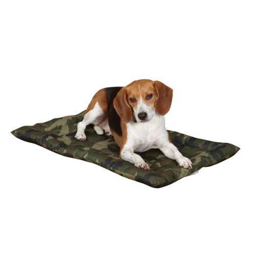 Slumber Pet Nylon Camo Dog Crate Mat, Large, Green front-322032