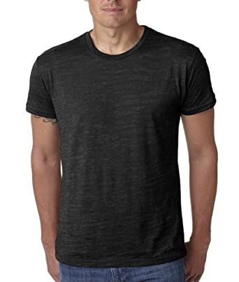 Next Level 6110 Mens Burnout Crew Tee - Black - Small
