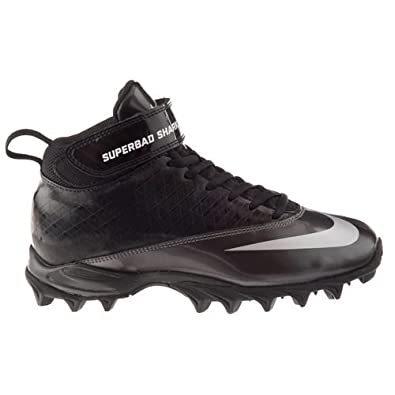 Buy Boys Nike Super Bad Shark Football Cleat Black Tornado White by Nike