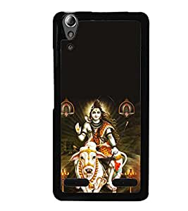 Printvisa Lord Shiva Heavenly Pic Back Case Cover for Lenovo A6000