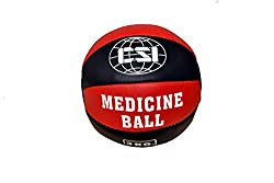 CSI real leather medicine ball 3kg- (red/black)