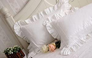 shabby and victorian style white lace ruffle. Black Bedroom Furniture Sets. Home Design Ideas