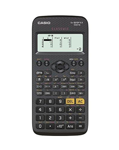 Casio FX-82SPXII Iberia - Calculadora científica (274 funciones, 24 niveles de paréntesis), color negro