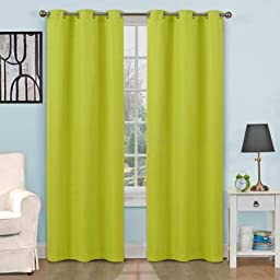 Eclipse Kids Dayton Energy-Efficient Curtain Panel,Size 42 x 63, Color Green