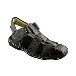 Trendy Enterprises Black Synthetic Leather Kids Sandal