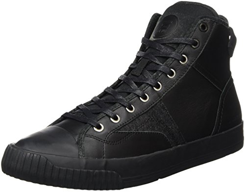 G-STAR Campus Scott Raw High, Scarpe da Ginnastica Alte Uomo, Nero (Black 990), 43 EU