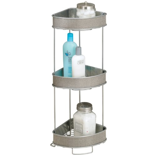 InterDesign Twillo 3-Tier Corner Shelf, Metallico