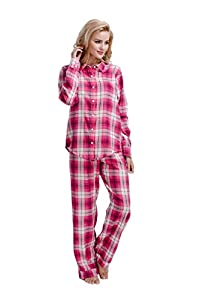 CYZ Women's 100% Cotton Flannel Pajama Set