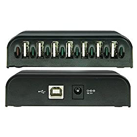 7-Port USB 2.0 Hub, Black