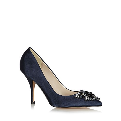 No. 1 <strong>Jenny Packham Womens Designer Navy Jewel Toe High Court <strong>Shoes