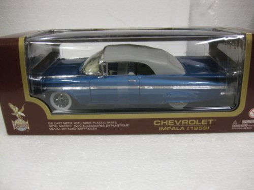 1959-chevrolet-impala-convertible-black-white-road-legends-118-collection-scale-die-cast-metal-oop-m