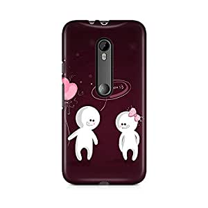 Motivatebox - Moto X Play Back Cover - Love Bunny Polycarbonate 3D Hard case protective back cover. Premium Quality designer Printed 3D Matte finish hard case back cover.