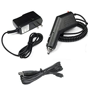 Garmin GPS Nuvi 1350t Accessory Bundle - Car Charger + Home Travel AC Charger + USB Data Cable from MyNetDeals