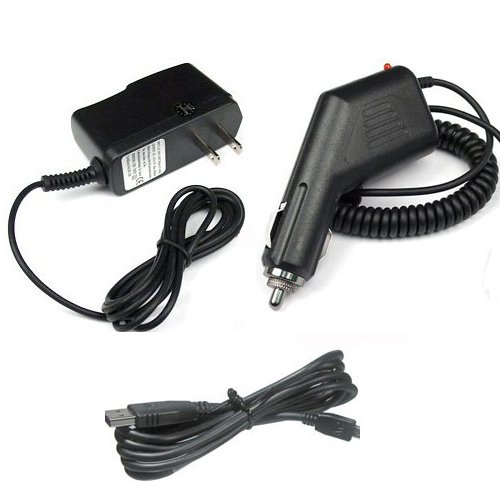 Garmin GPS Nuvi 255w Accessory Bundle - Car Charger + Home Travel AC Charger + USB Data Cable