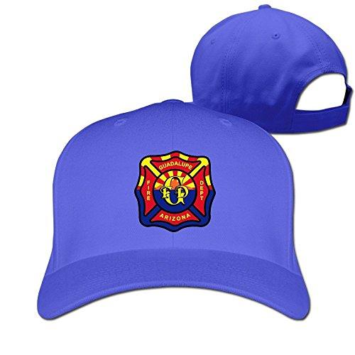 Runy Custom Fire Dept Adjustable Hunting Peak Hat & Cap RoyalBlue