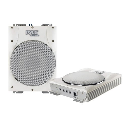 "The Amazing Quality Pyle 10"" Low-Profile Super Slim Active Amplified Marine/Waterproof Subwoofer System - 1000W"