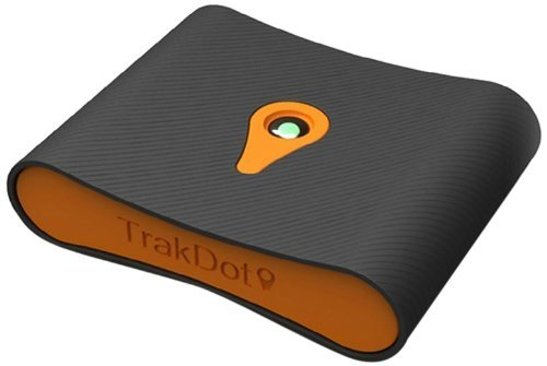 Trakdot Luggage Tracker, Black/Orange, One Size