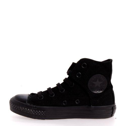 Converse Kid's Boys Chuck Taylor All Star Easy Slip Hi Fashion Sneaker Shoe, Mono Black, 13