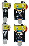 Tintetec® 4x s210 Pack de 4 Cartouches Compatibles pour Samsung replacer Ink- M210 M215 C210