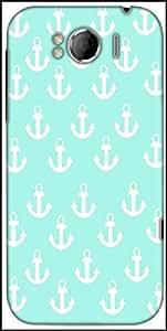Snoogg Light Blue Nautica Anchor Designer Protective Back Case Cover For HTC Sensation Xl