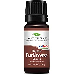 Organic Frankincense Serrata Essential Oil. 10 ml (1/3 oz). 100% Pure, Undiluted, Therapeutic Grade.