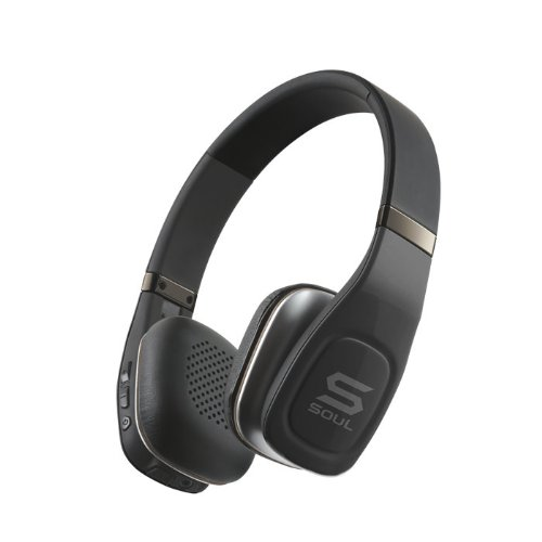 SOUL Electronics sv3blk Volt Bluetooth Pro Hi-Definition On-Ear Headphones, Black