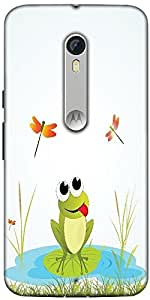 Snoogg Background With Frog Designer Protective Back Case Cover For Motorola Moto X Style