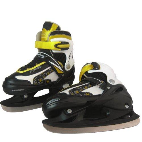 Schlittschuhe inkl. Kufenschoner, einstellbare Eishockeyschlittschuhe Kufenschoner inkl. -Größenwahl
