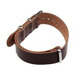 Creazy® Fashion Concise PU Leather 20cm Wrist Watch Band Strap Pin Buckle (Dark brown)