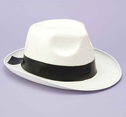 White Gangster Hat - Ideal for