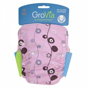 GroVia All in One Diaper (mod flower)