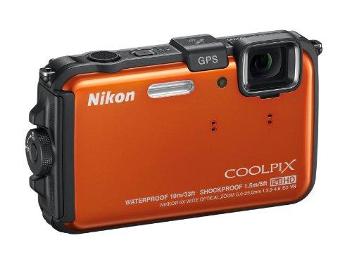 Nikon COOLPIX AW100 Waterproof Compact Digital Camera - Orange (16MP, 5x Optical Zoom) 3 inch LCD