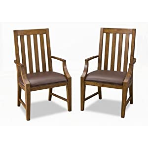 Home Styles 5900-812 Arts and Crafts Game Chairs, Distressed Oak Finish, Set of 2
