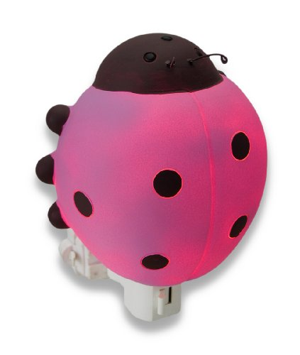 Children`s Pink Ladybug Night Light Nite Lite - 1