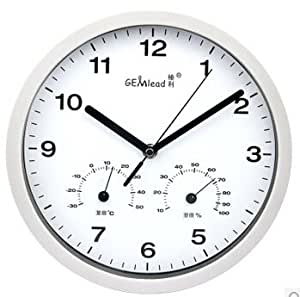 quartz wall clock with temperature humidity