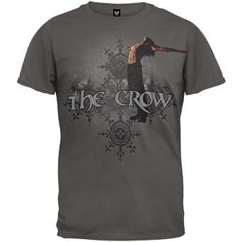 The Crow - Mens Rain T-shirt Small Grey