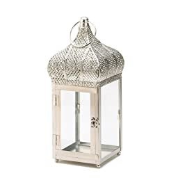 Captivating Silver Finish Square Lantern