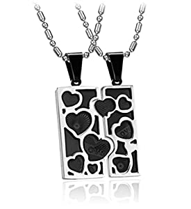 TIDOO Jewelry Fashion His & Hers Matching Set Stainless Steel Pendant