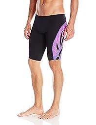 TYR  Men\'s Phoenix Splice Jammer Swimsuit (Black/Purple, 32)
