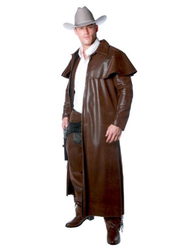 Underwraps Costumes Men`s Cowboy Costume - Duster Coat, Brown, One Size