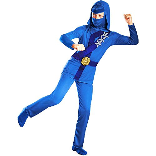 Blue Thunder Ninja Classic Toddler Costume - 3T-4T