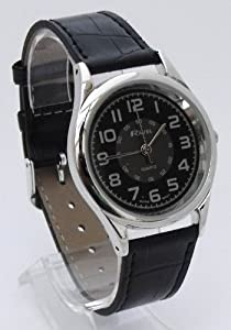 Mens Classic Minute Track Black Watch With Long 15-20cm Black Strap (R0106.16.1)