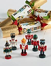 6 pc Traditional Nutcracker Christmas Crackers 680 by Robin Reed